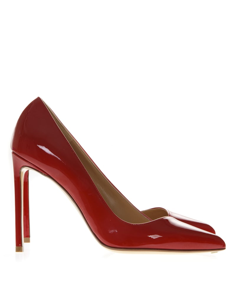 Francesco Russo Red Patent Leather Pumps - Red