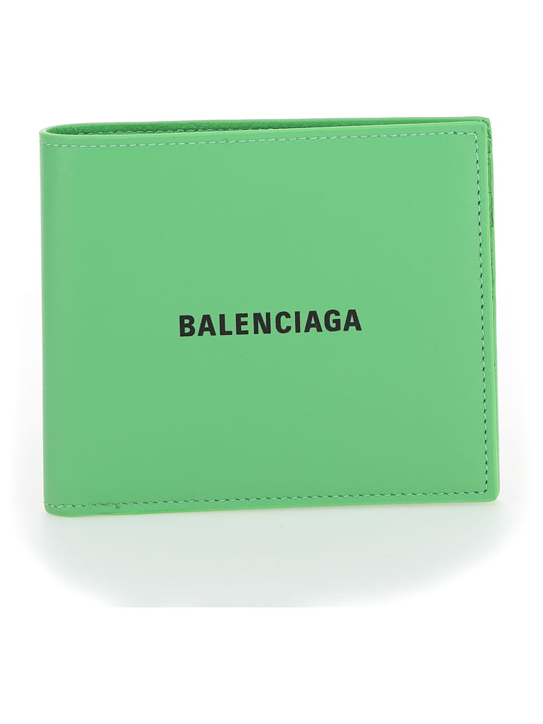 Balenciaga Wallet - Light green/l black