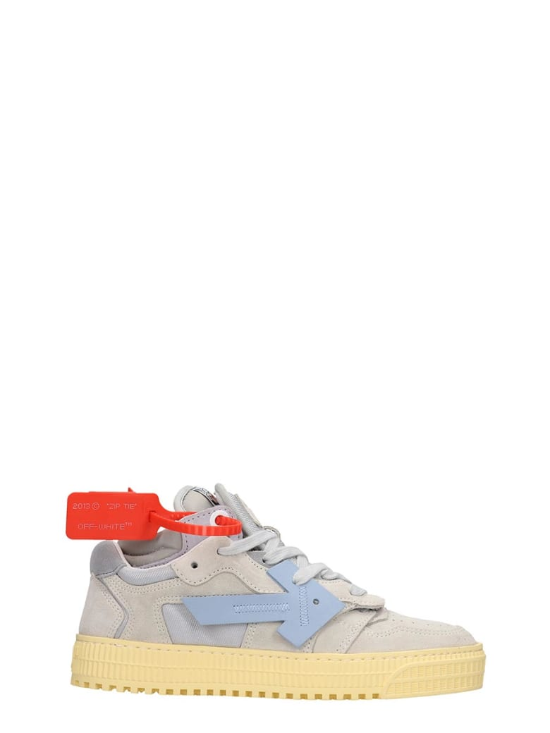 Off-White 3.0 Low Sneaker Sneakers In Grey Suede - grey