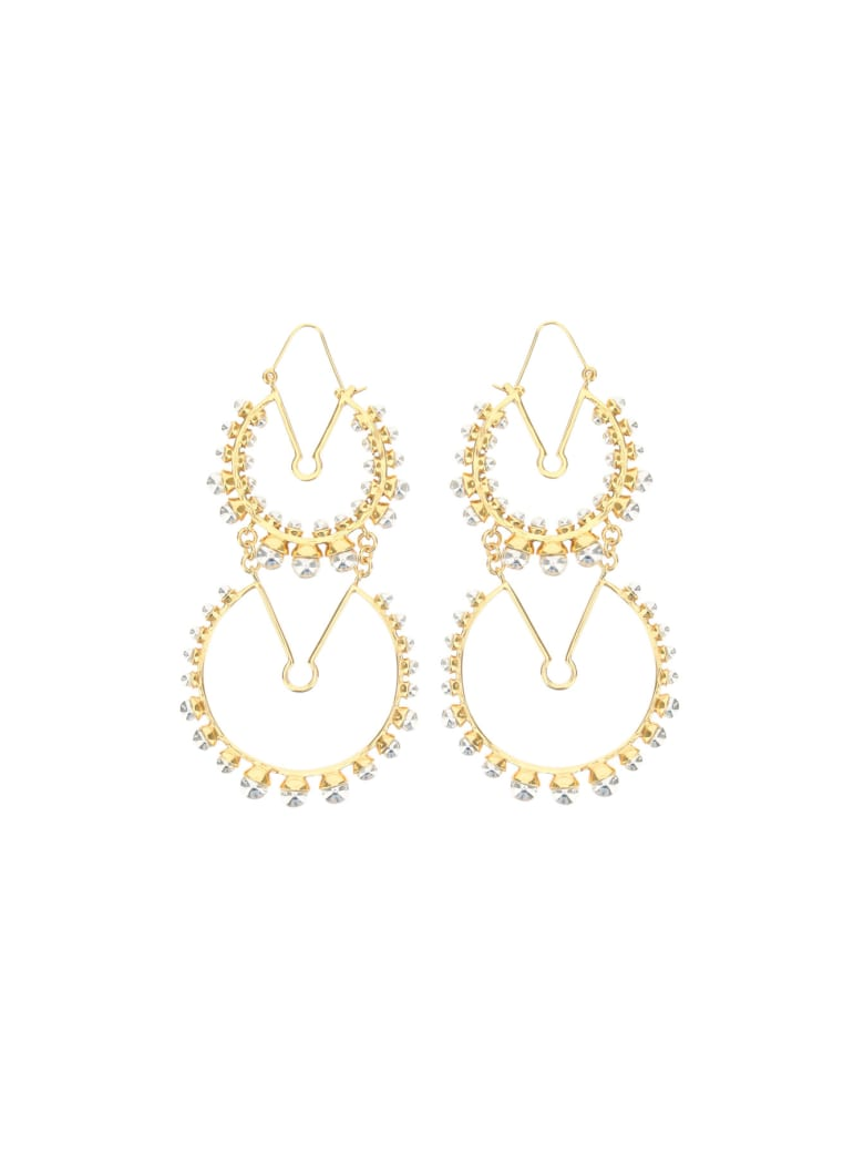 Patou Double Circle Earrings - GOLD SILVER (Gold)