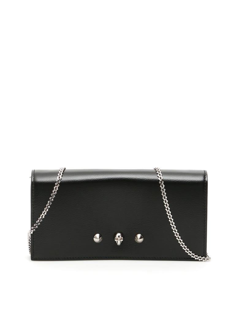 Alexander McQueen Wallet On Chain - BLACK (Black)