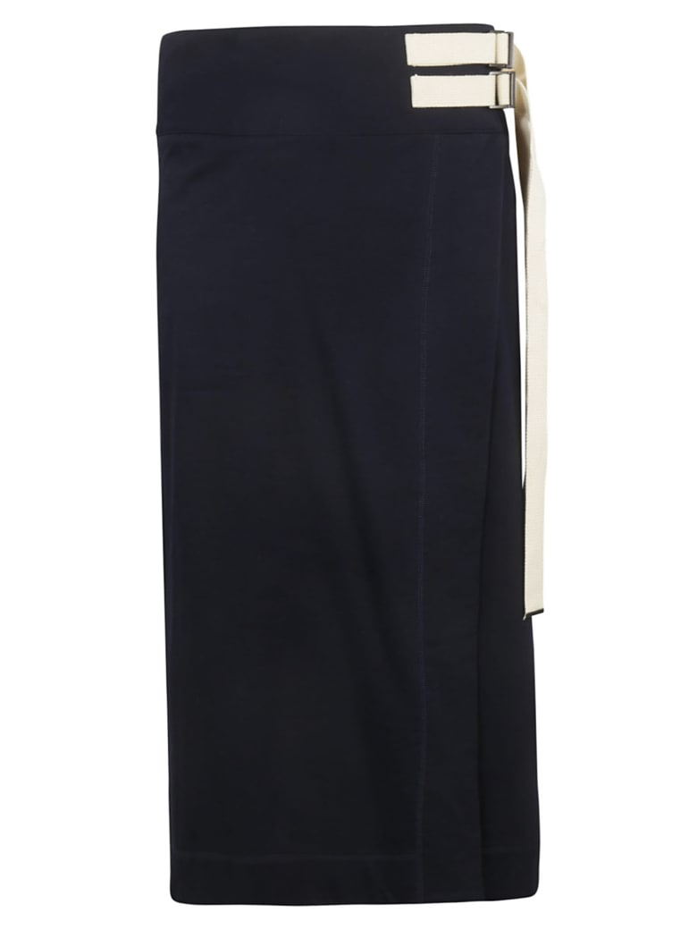 Y's Wrap Skirt - Blue