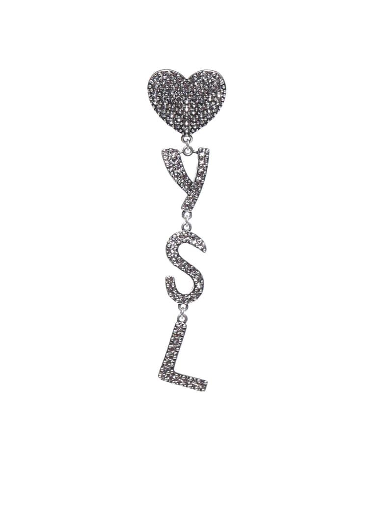 Saint Laurent Earring - Argentoxydecrystal
