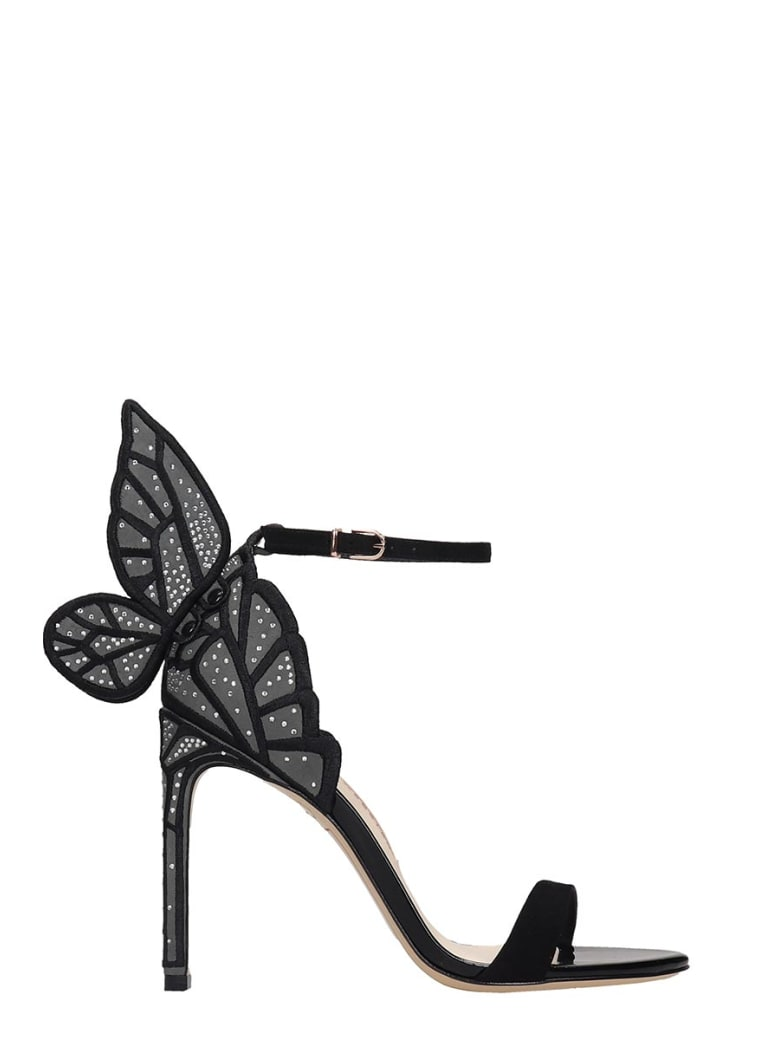 Sophia Webster Chiara Sandals In Black Suede And Leather - black