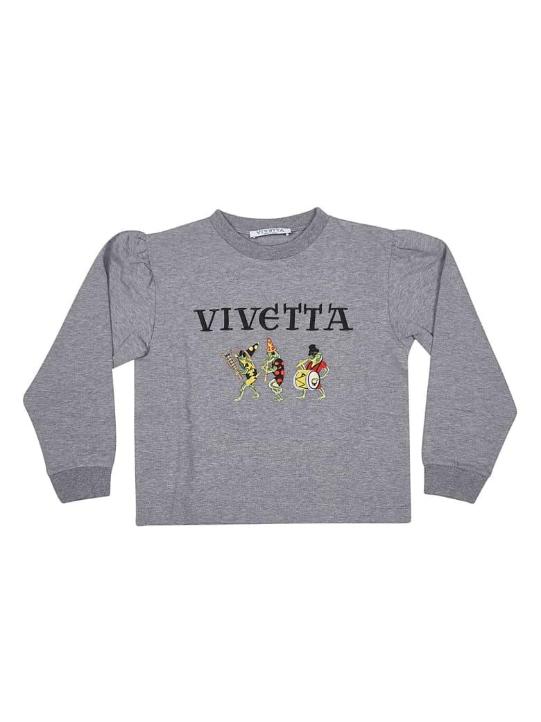 Vivetta Embroidered Logo Jumper - Grey