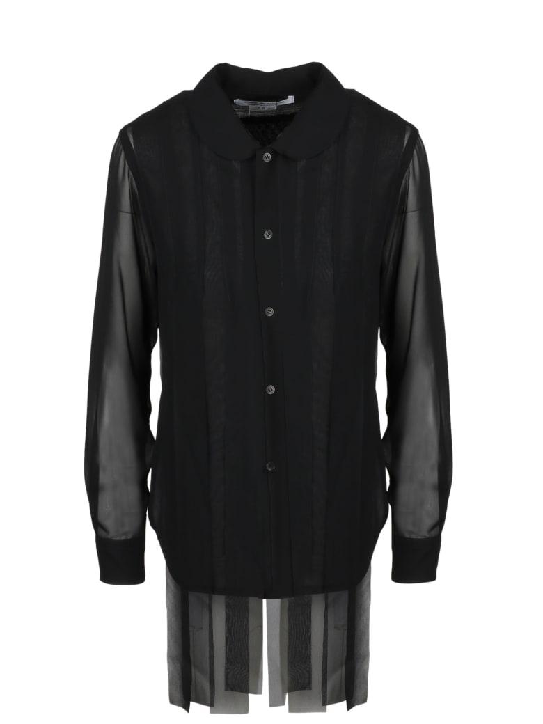 Comme des Garçons Comme des Garçons Fringes Chiffon Shirt - Black