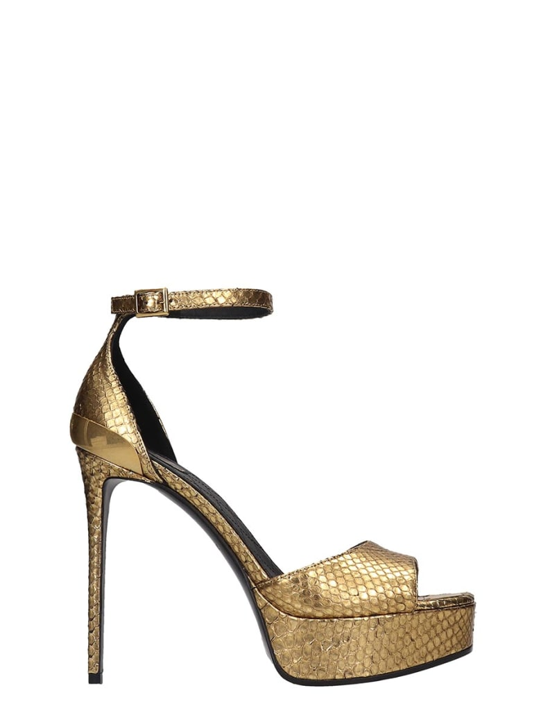 Balmain Pippa  Sandals In Gold Leather - gold