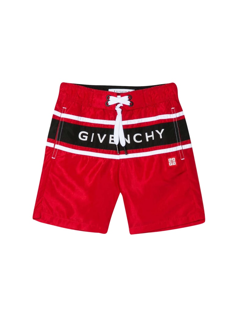 Givenchy Kids Printed Swimsuit - Rossa