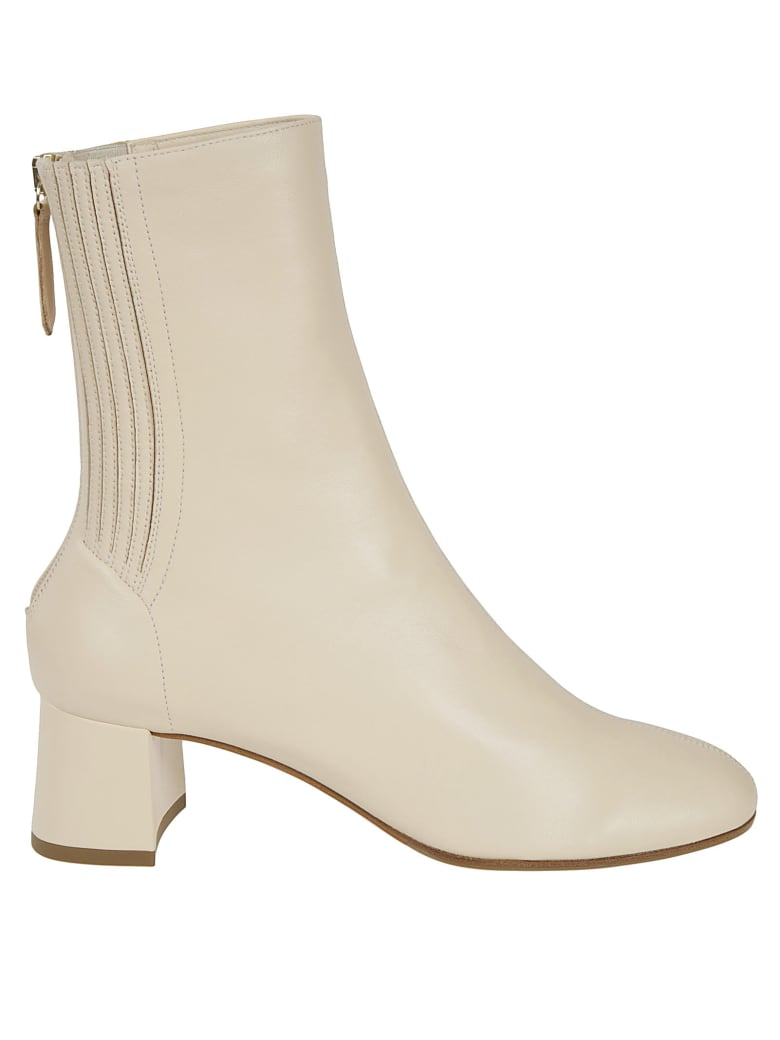 Aquazzura Saint Honor 85 Boots - Cream