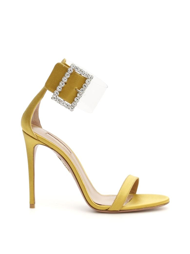 Aquazzura Casablanca Strass Sandals 105 - OCRA (Yellow)