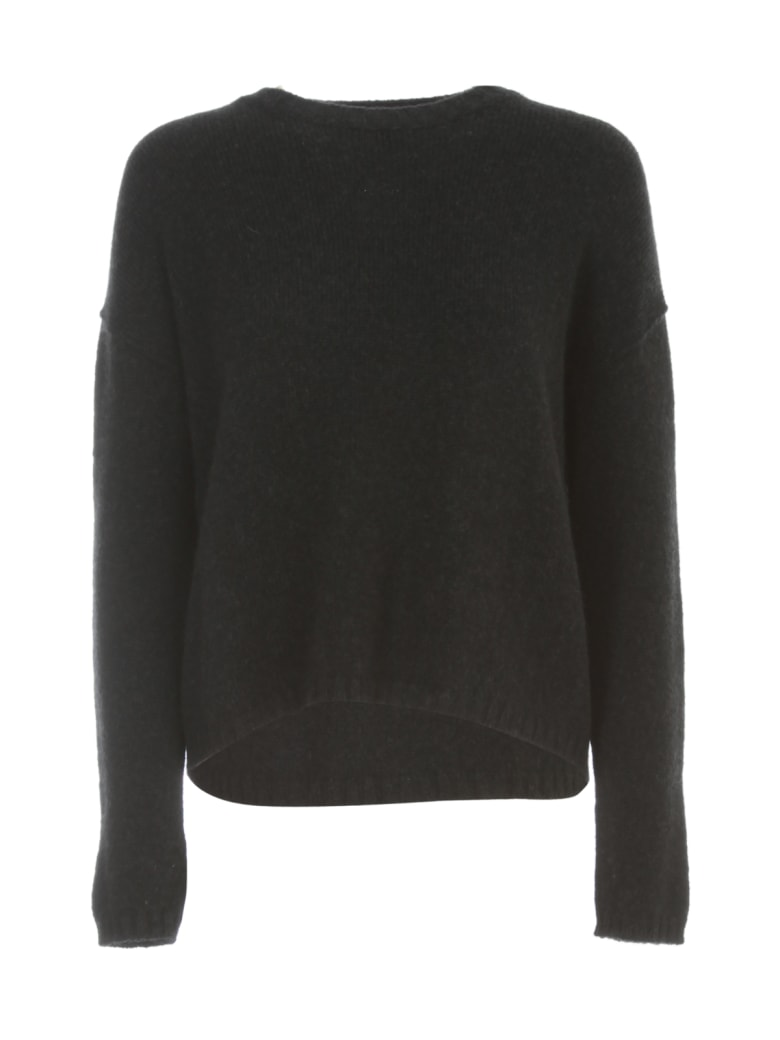 Nuur Boxy Round Neck Sweater - Nero