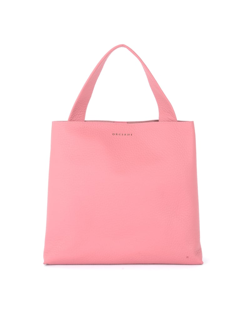Orciani Jackie Shoulder Bag In Pink Grained Leather - ROSA