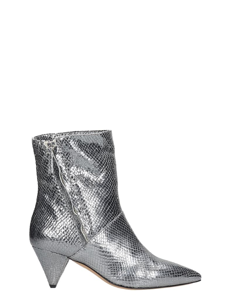 The Seller Ankle Boots In Silver Leather - silver