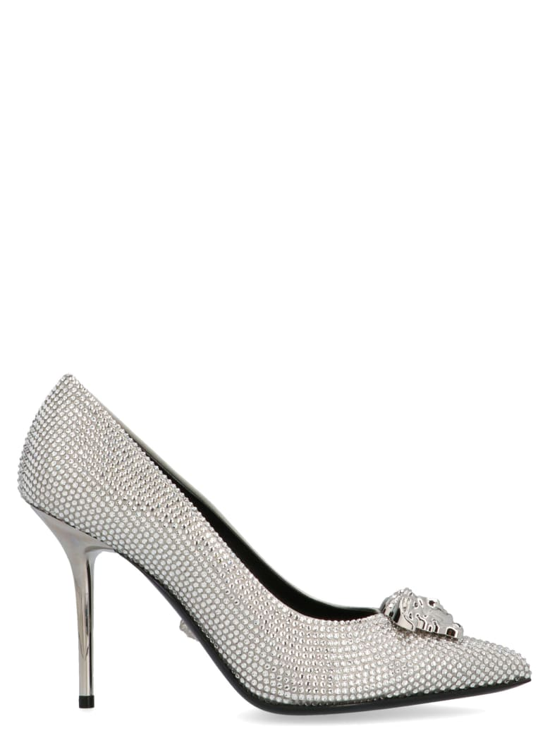 Versace 'total Crystal' Shoes - Silver