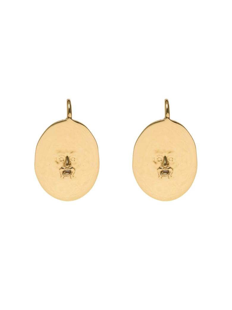Patou Golden Brass Earrings - Metallic