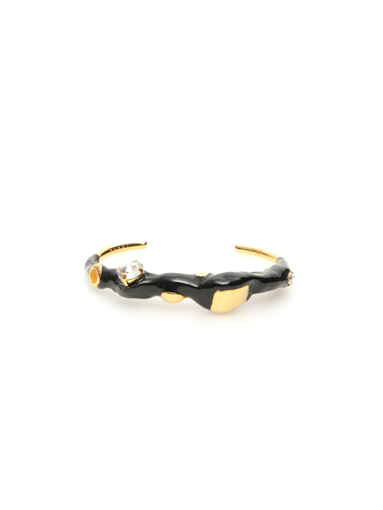 Marni Metal And Enamel Cuff Bracelet - Black