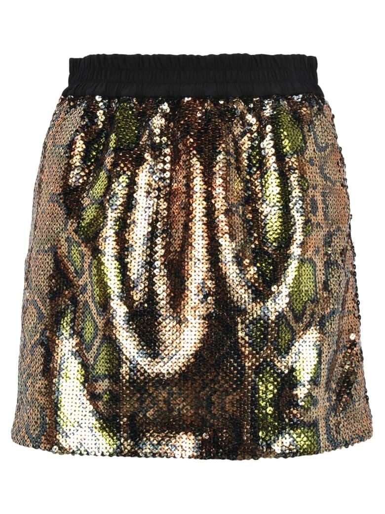 N.21 N21 Sequins Embroidered Mini Skirt - MULTICOLOURED