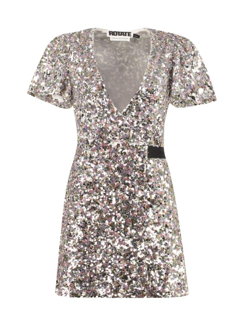 Rotate by Birger Christensen Frida Sequined Mini-dress - silver