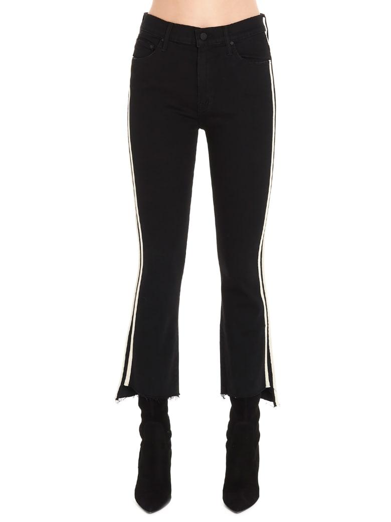 Mother 'insider Crop Step Fray' Jeans - Black