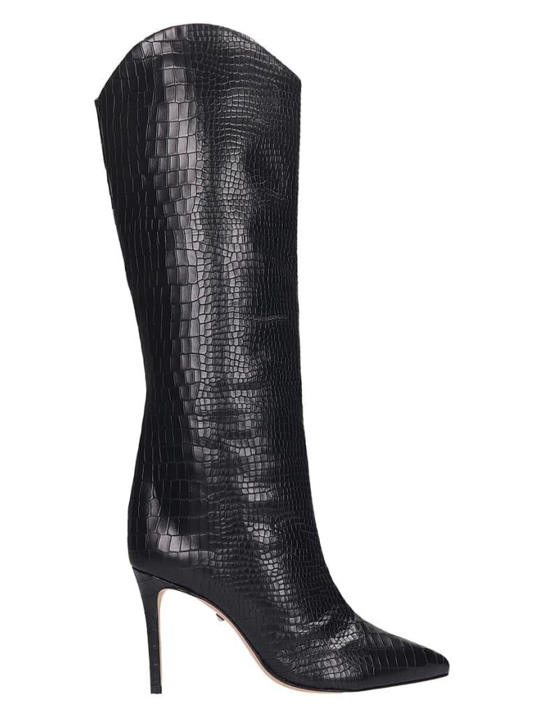 Schutz Maryana Boots In Black Leather - black