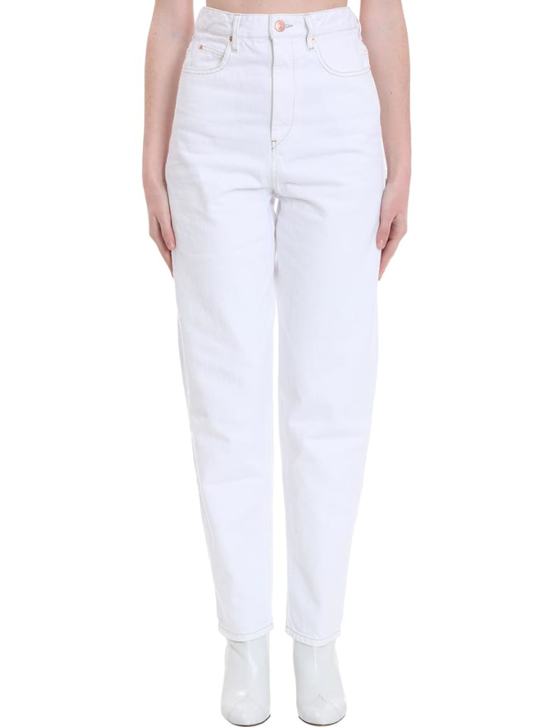 Best Price On The Market At Italist Isabel Marant étoile Isabel Marant étoile Corsyj Jeans In White Denim