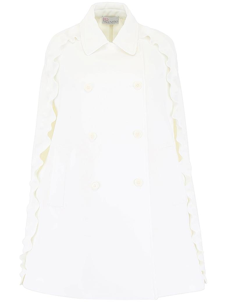 RED Valentino Ruffled Cape - WHITE (White)