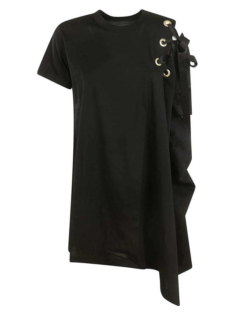 Sacai Lace Detail Dress - Black