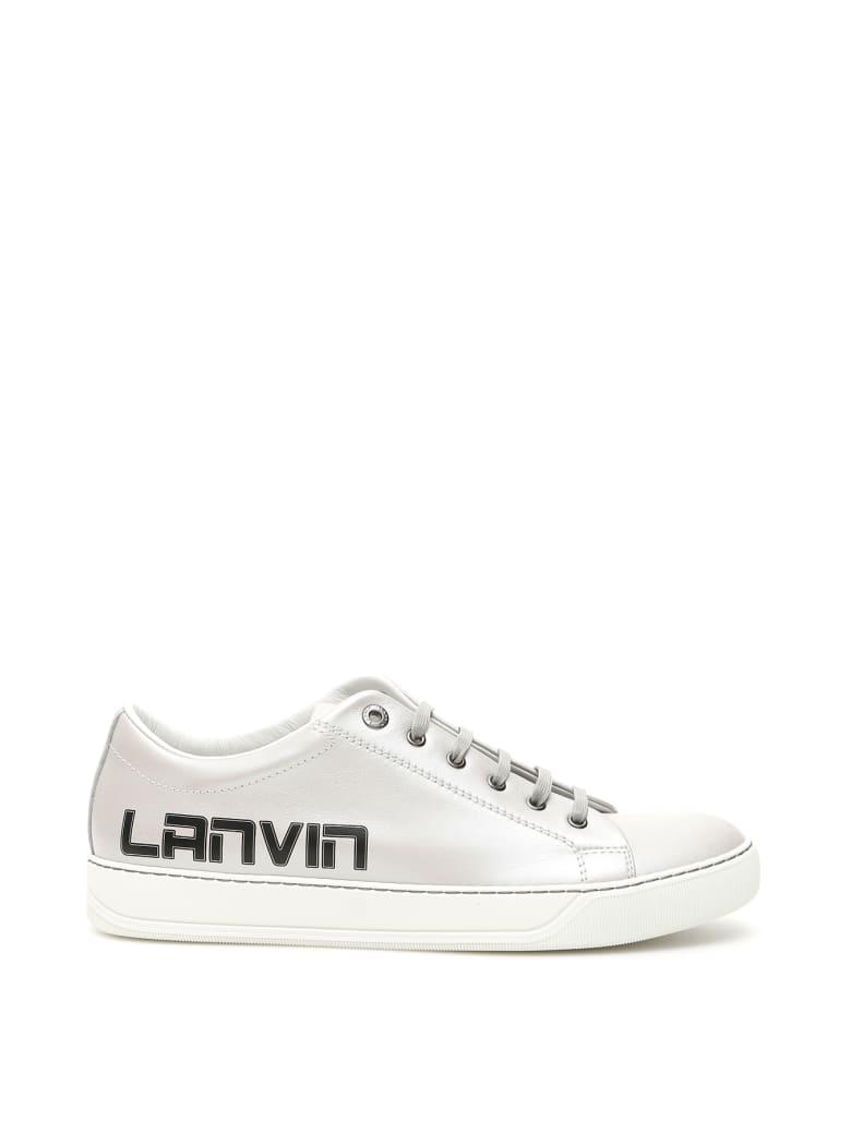 Lanvin Logo Sneakers - METALLIC GREY (Silver)