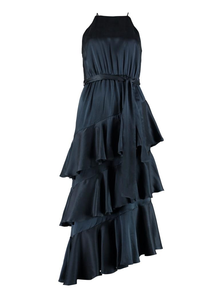 Zimmermann Silk Dress With Frills - blue