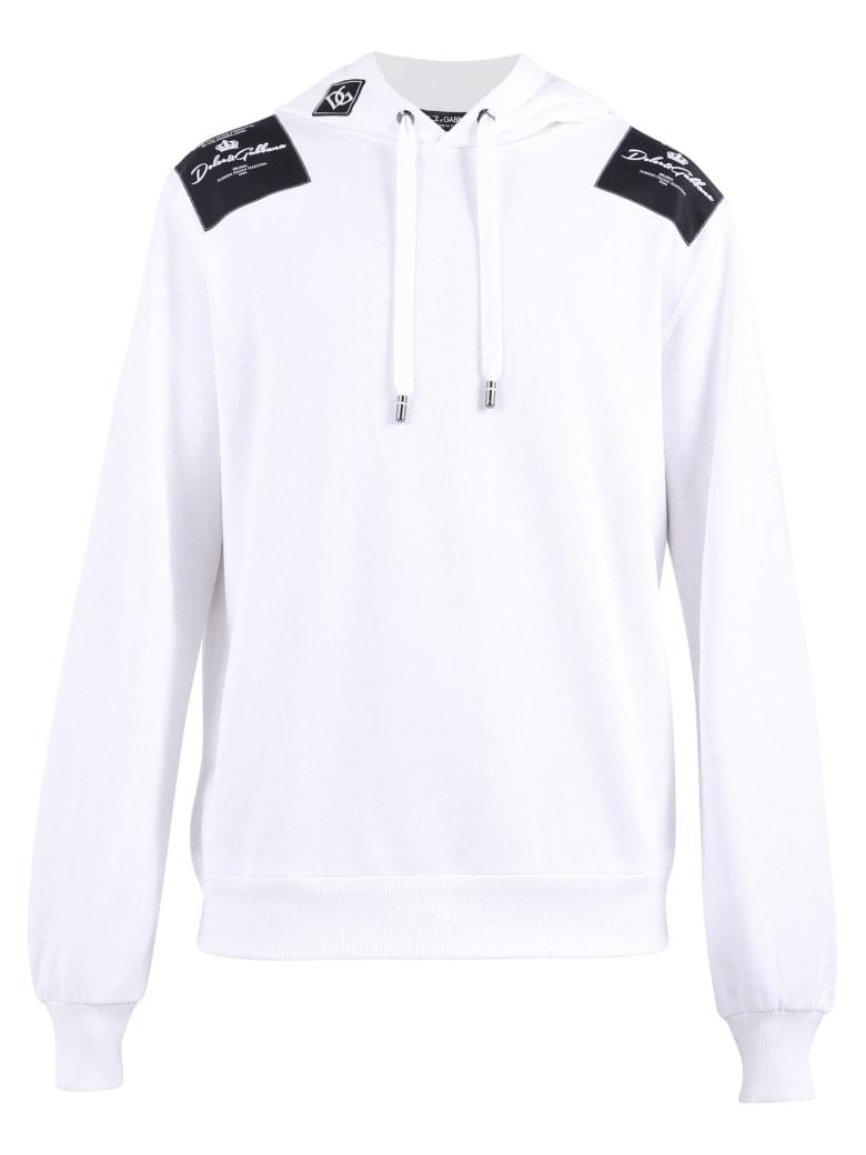 Dolce & Gabbana Branded Sweatshirt - White