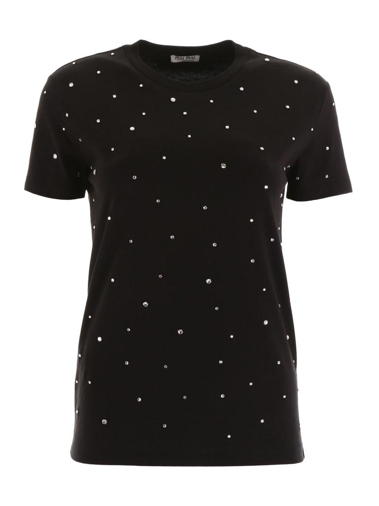 Miu Miu Crystal T-shirt - NERO (Black)