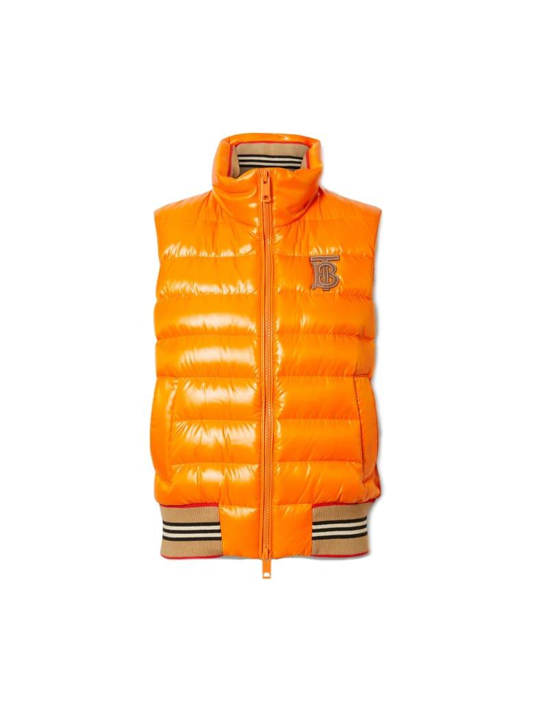 Burberry Hessle No Sleeves Logo Jacket - Orange