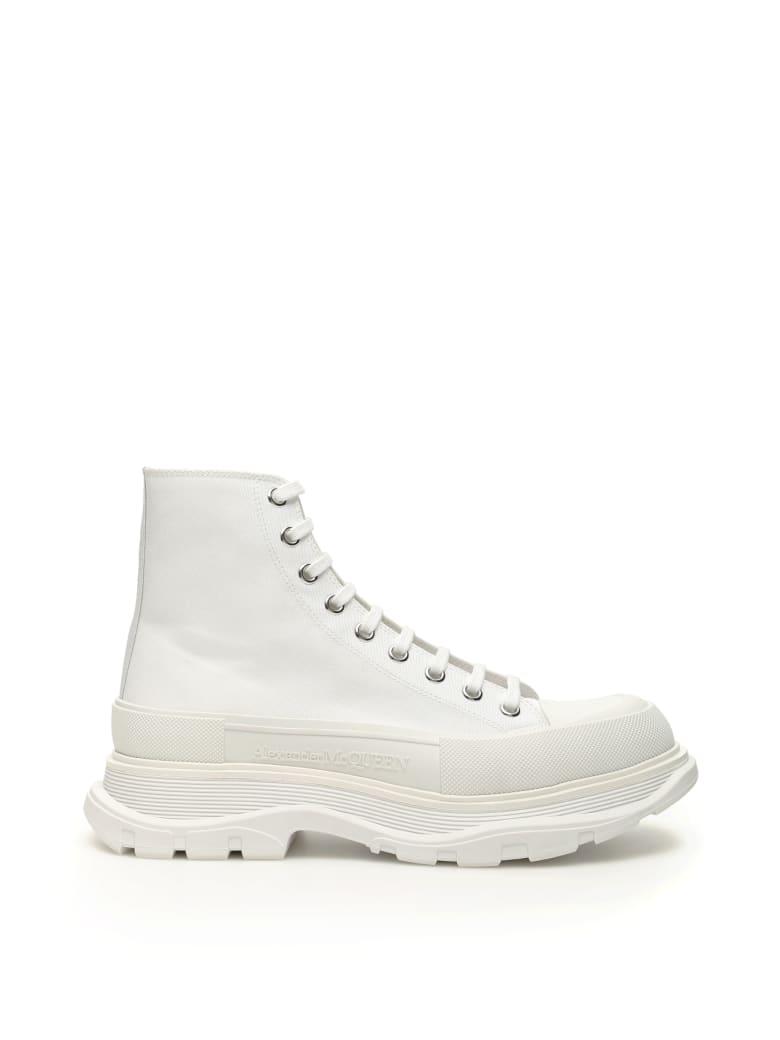 Alexander McQueen Tread Sleek Boots - WHITE WHITE WHITE (White)