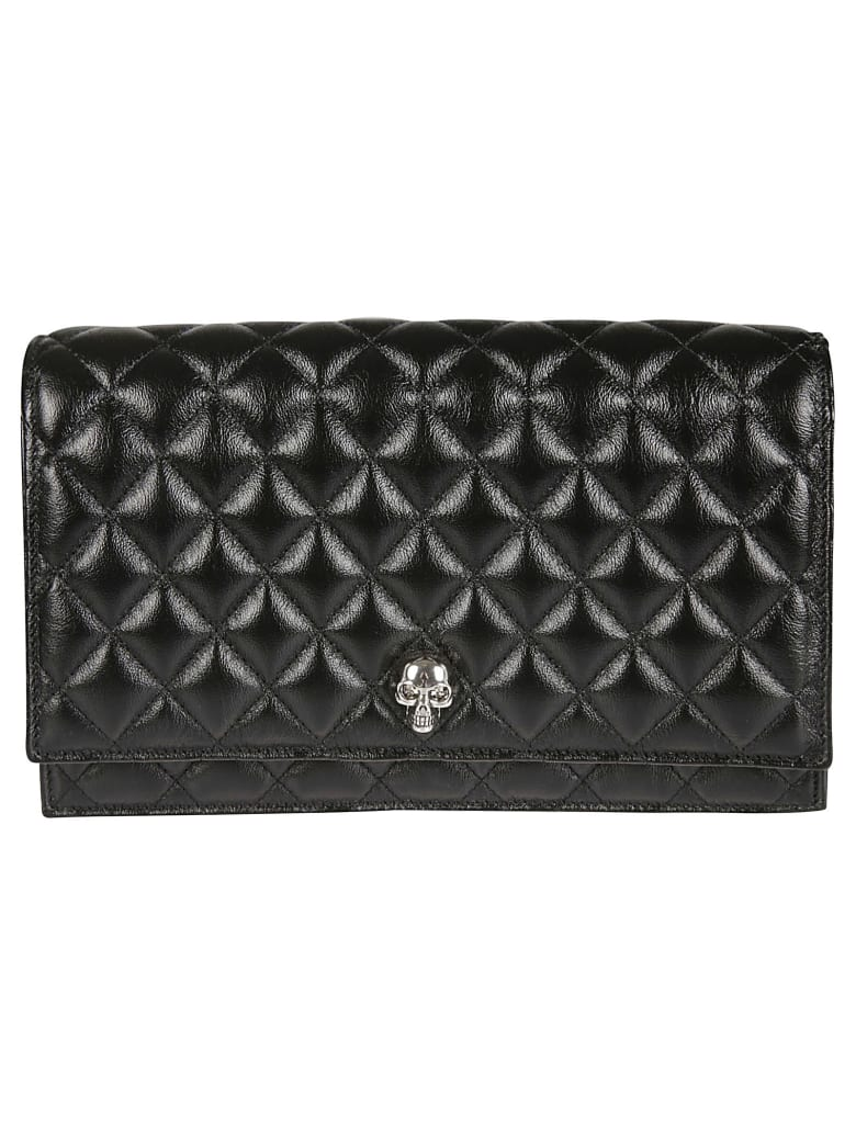 Alexander McQueen Quilted Chain Strap Shoulder Bag - Black