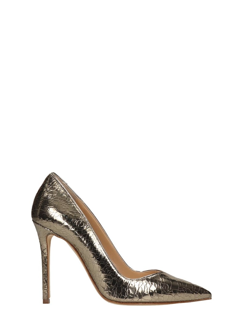 The Seller Gold Crack Leather Pumps - gold
