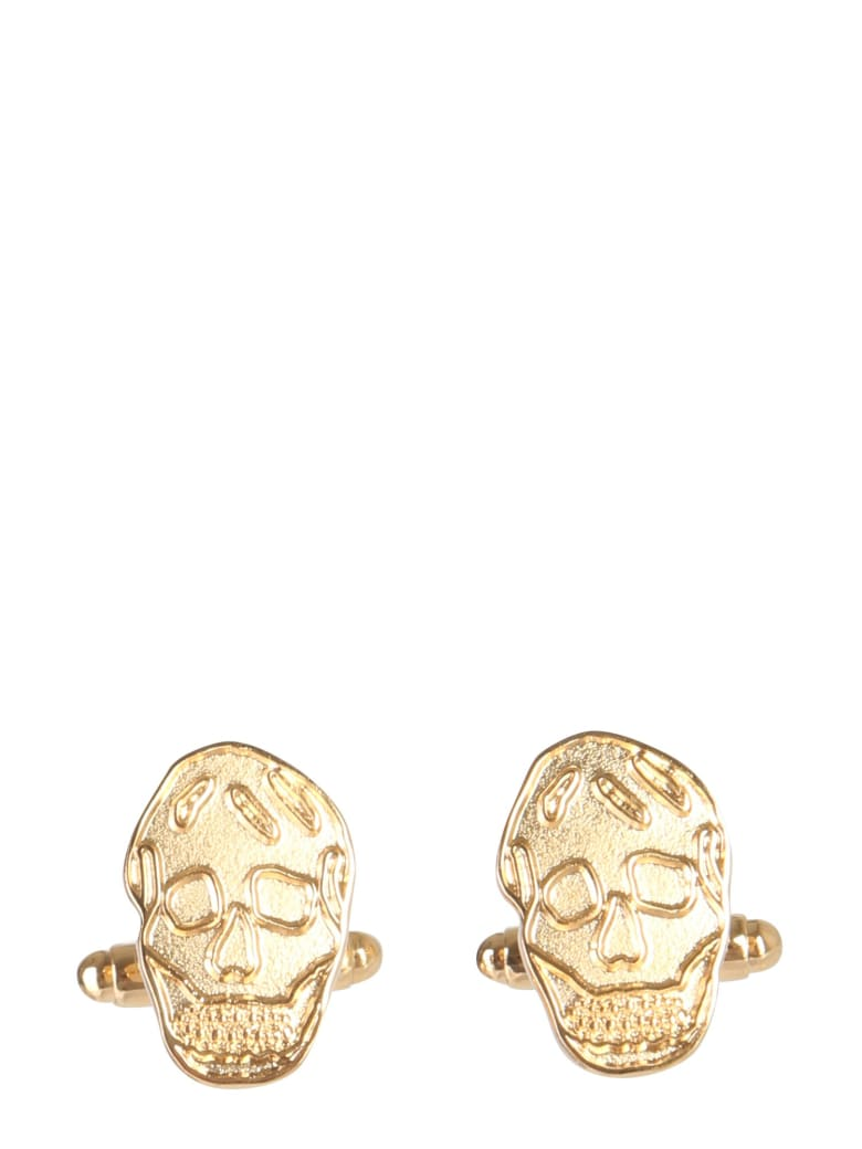 Alexander McQueen Skull Cufflinks - ORO