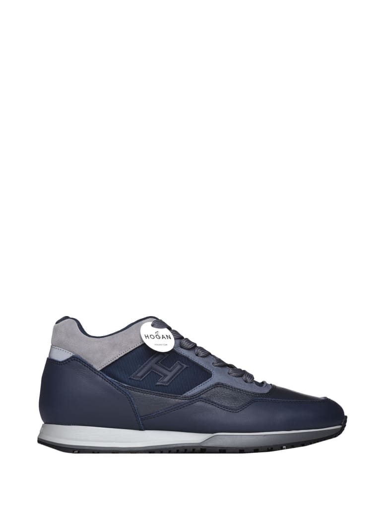 Best price on the market at italist | Hogan Hogan H321 Blue And Grey Sneakers