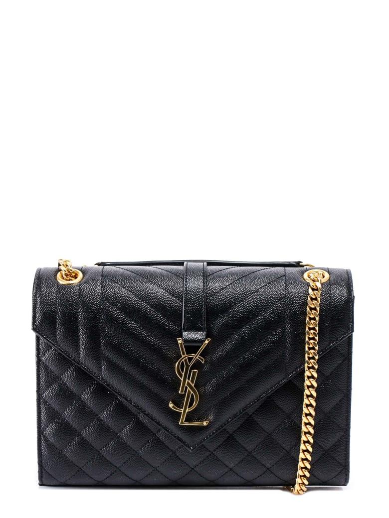Saint Laurent Envelope Shoulder Bag - Black