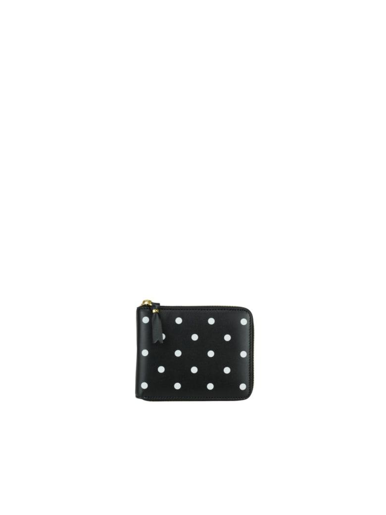 Comme des Garçons Wallet Dots Print Line Wallet - Black