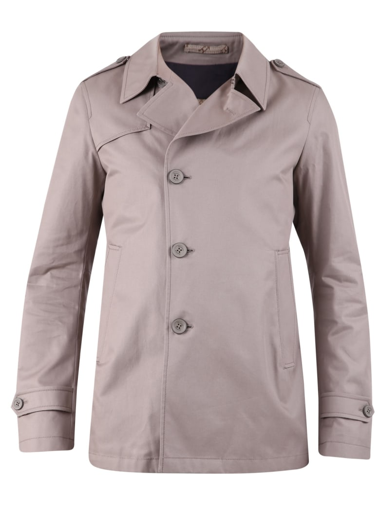 Herno Single-breasted Jacket - Grey
