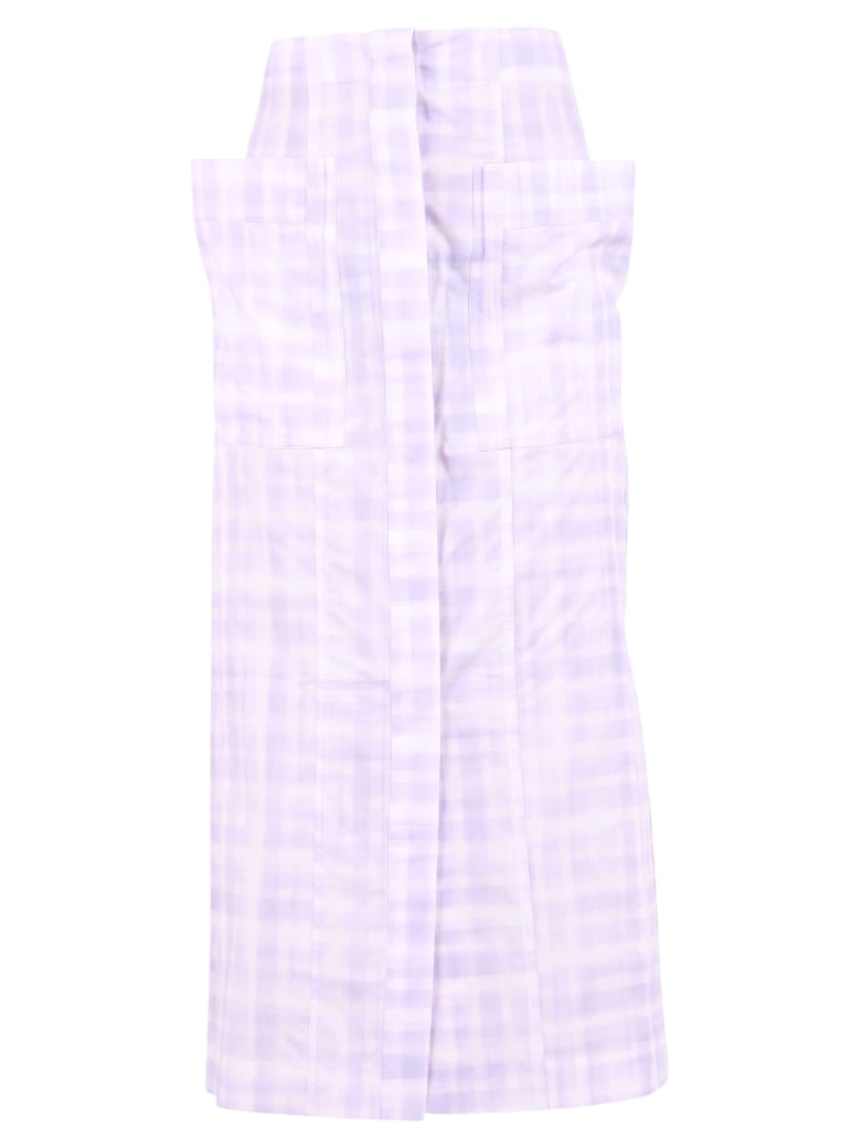 Jacquemus Checked Skirt - Purple