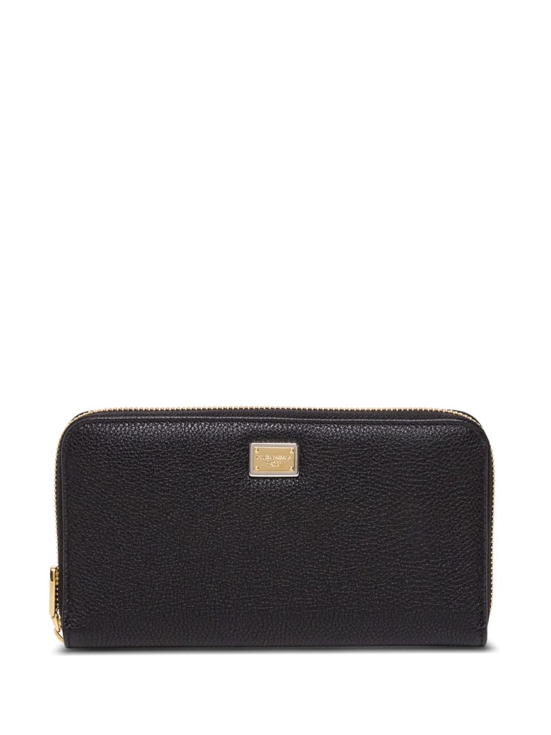 Dolce & Gabbana Sicily Wallet In Grained Leather - Black