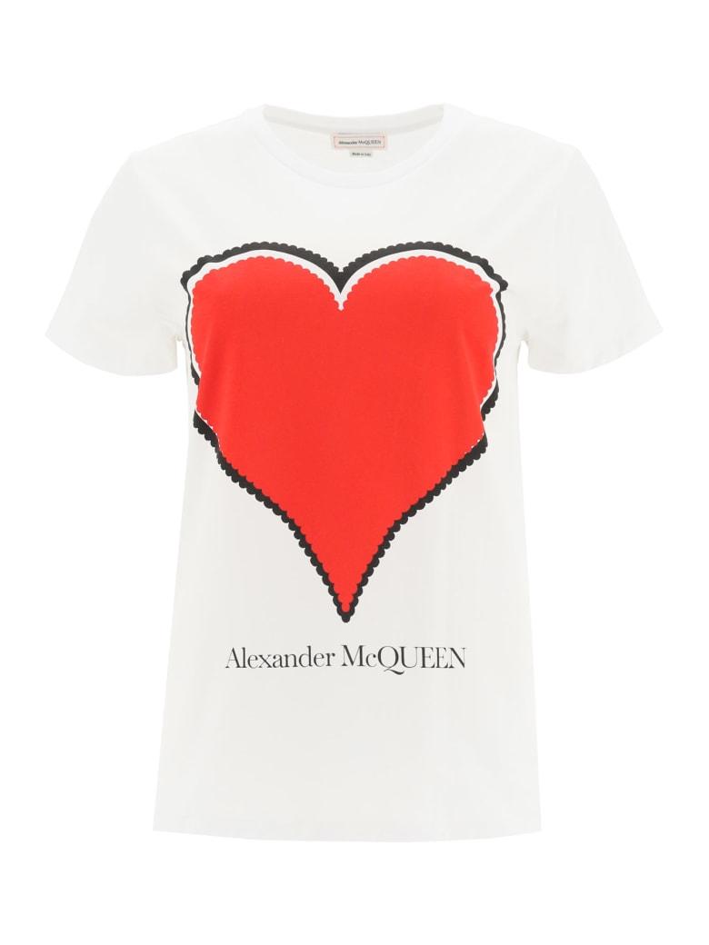 Alexander McQueen Heart T-shirt - White