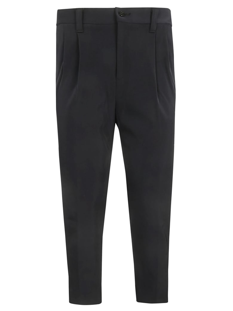 Zucca Cropped Trousers - Black