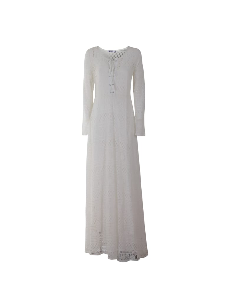 Brigitte Bardot Long Dress - WHITE