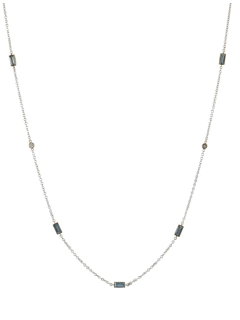 Lo Spazio Jewelry Lo Spazio Aquamarine and Diamond Necklace - Sky_Blue
