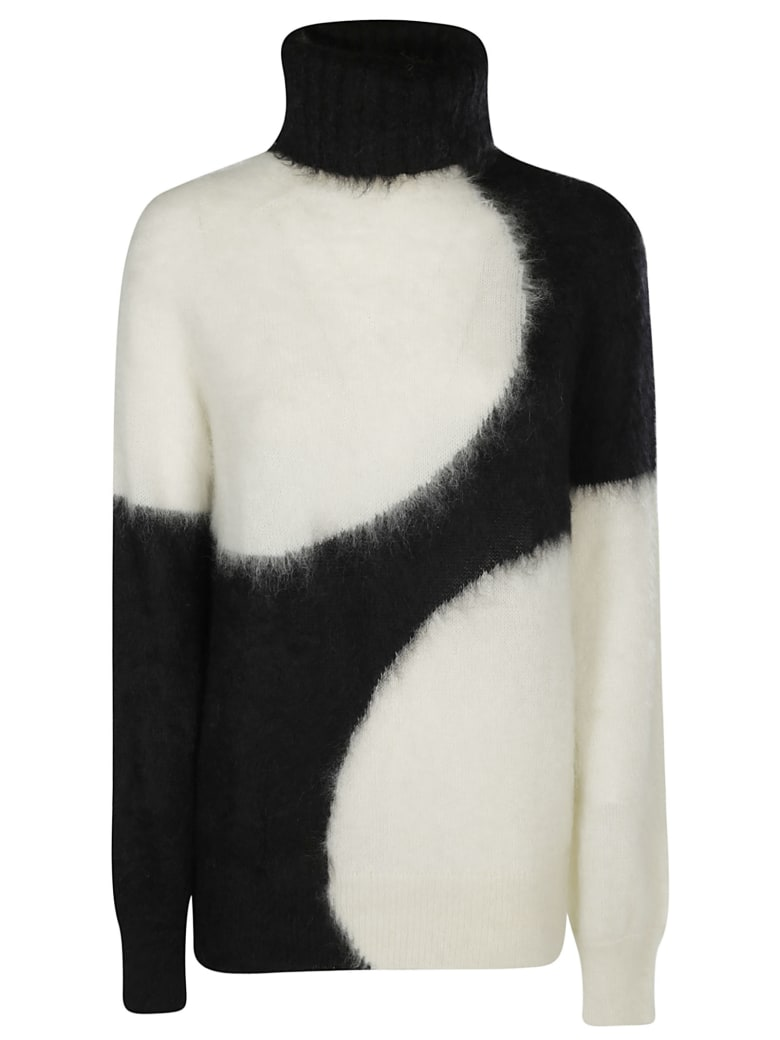 Gianluca Capannolo Ribbed Roll Neck Jumper - BLACK WHITE
