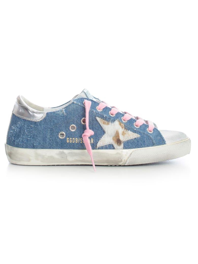 Golden Goose Sneakers Superstar Blue Denim - Light Blue Denim Cow Star