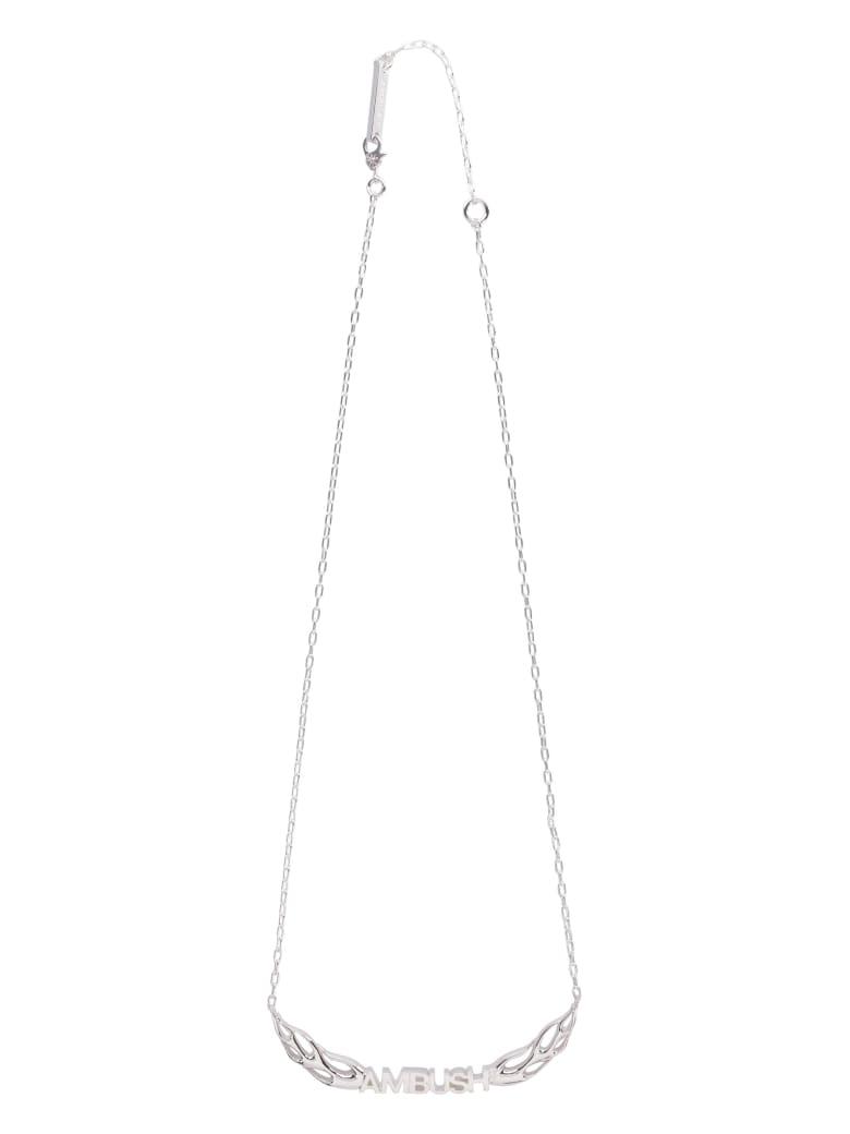 AMBUSH Flame Silver Necklace - silver
