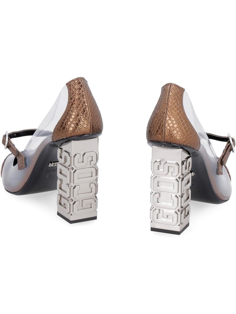 GCDS Sita Mary-jane Pumps - brown